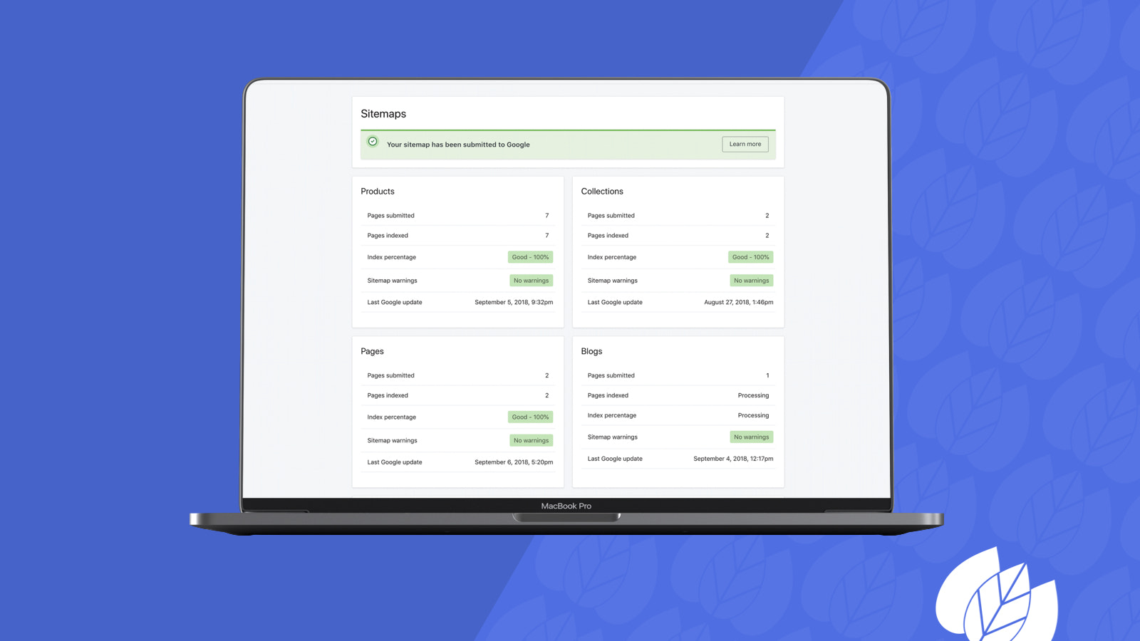 Monitor your store's Google health with SEO Manager