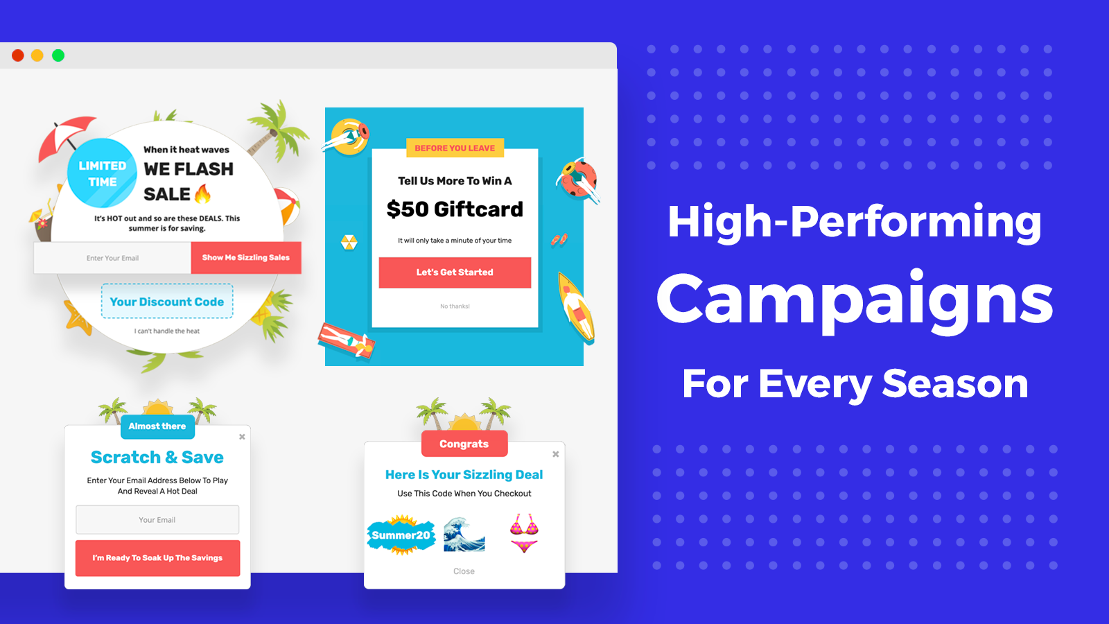 Pop Ups For Every Season To Improve User Experience & Sales