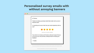 Personalised feedback emails without annoying ads