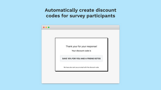 Automatic Discount code generation on feedback response