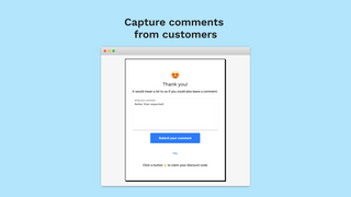 Capture comments from survey