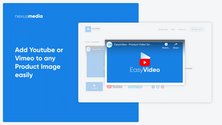 Easily add YouTube or Vimeo video to any product