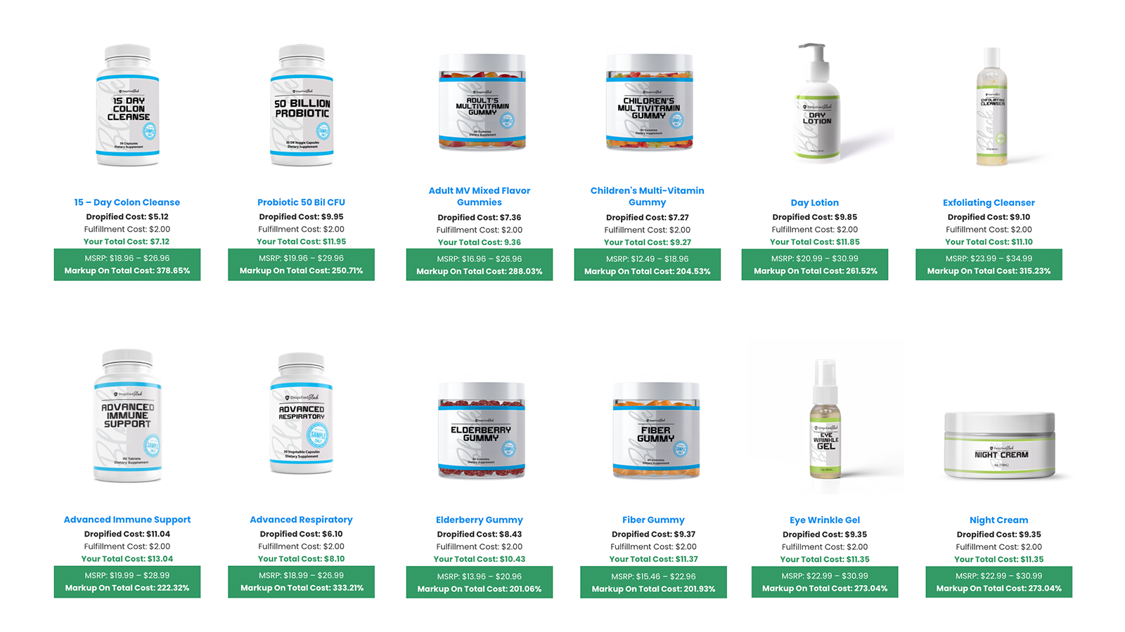 Browse our catalog of over 100+ private label products