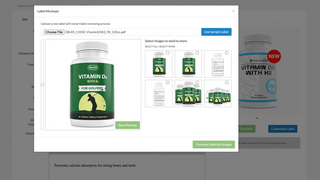 Create product mockups which can be sent directly to your store
