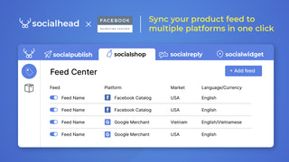 Sync products to multiple platforms in one click