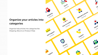 Categorize your FAQ & Help Center Articles, unlimited FAQs!