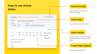 FAQ / HelpCenter with a feature rich article editor for FAQs