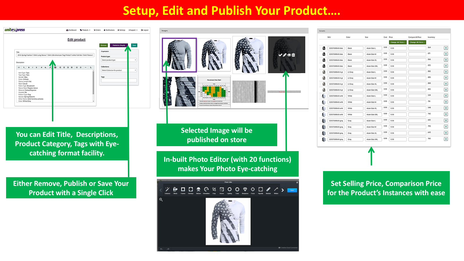 Setup & Edit Your Products before Publish