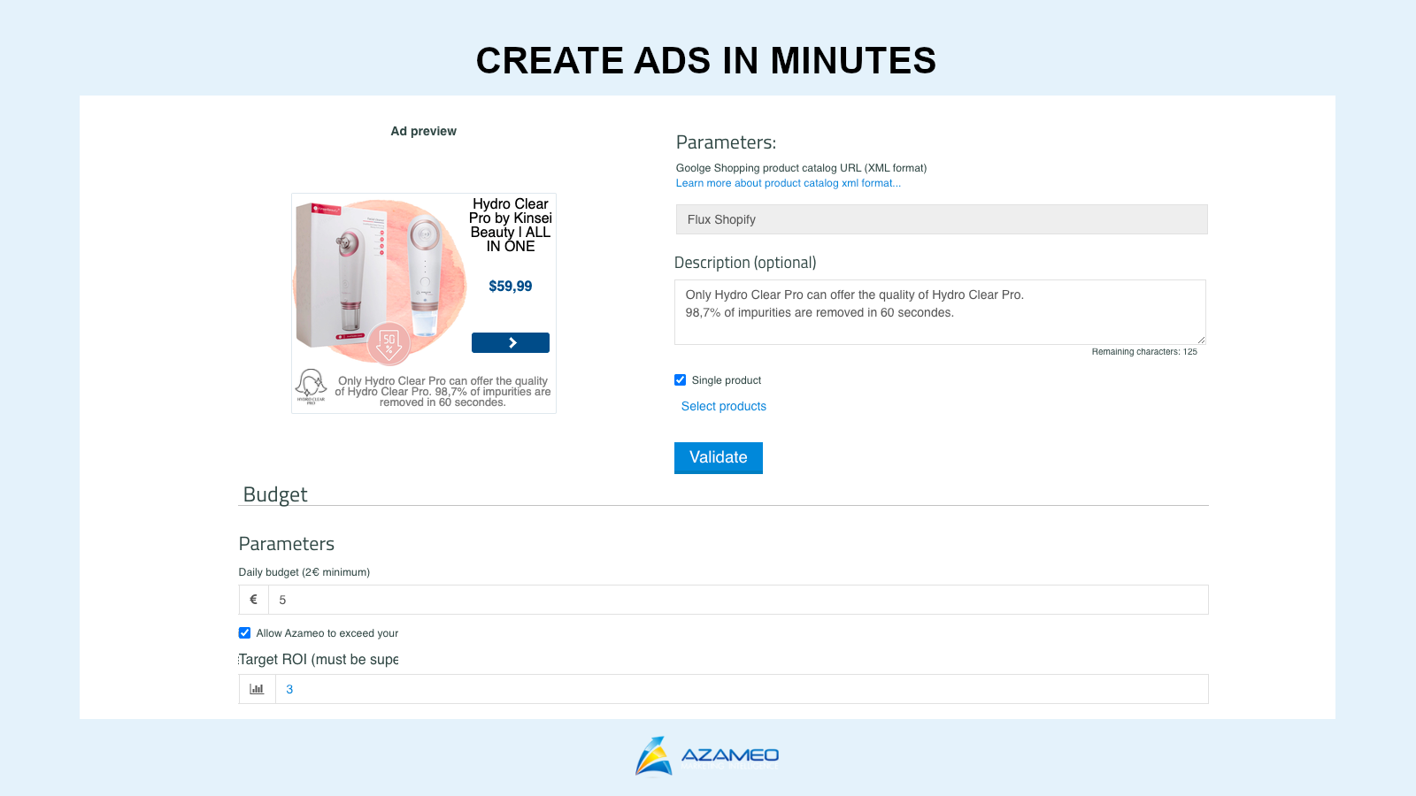Set up high-converting ads in minutes