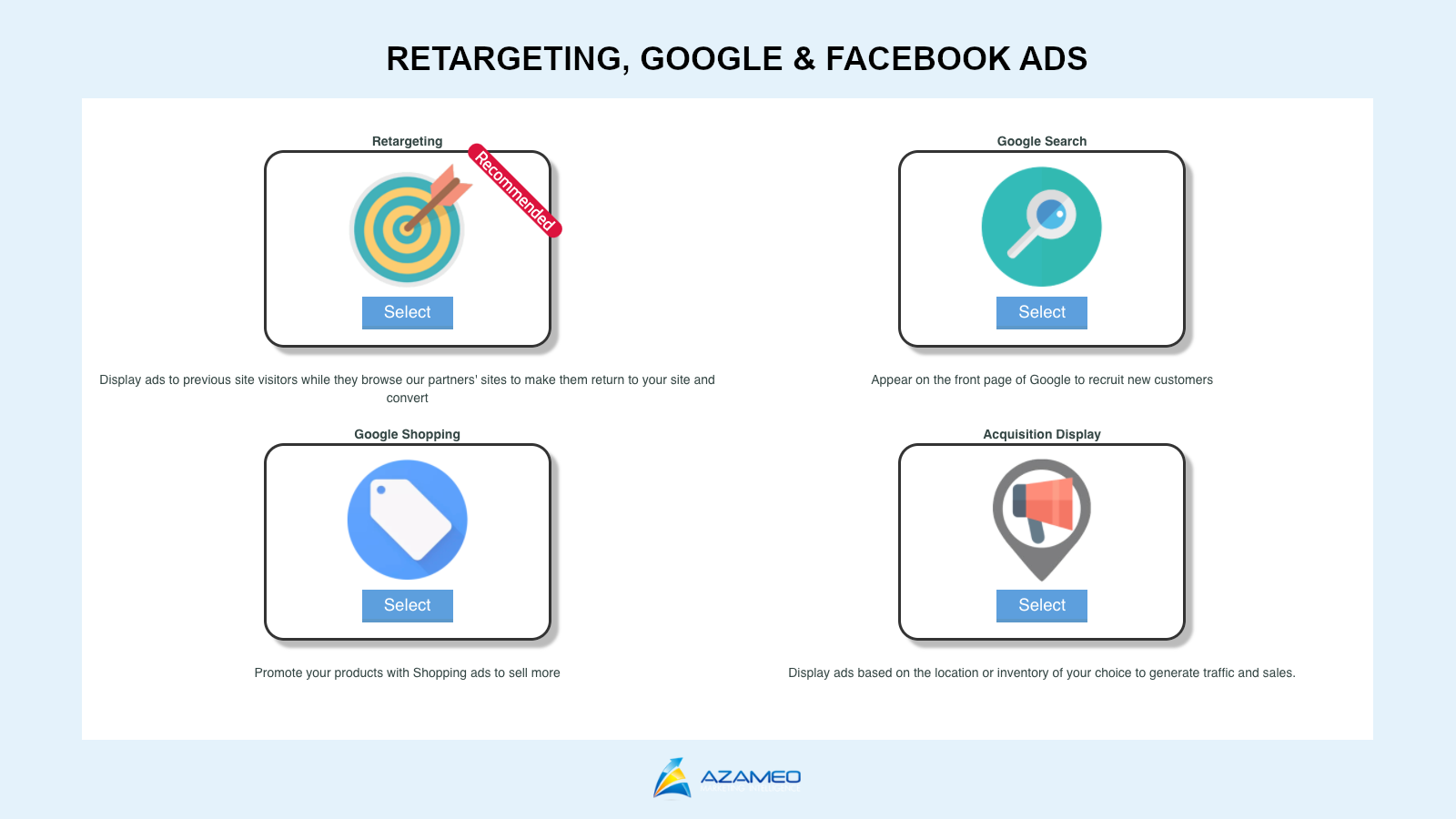 Compatible with Google, Facebook and Retargeting Ads