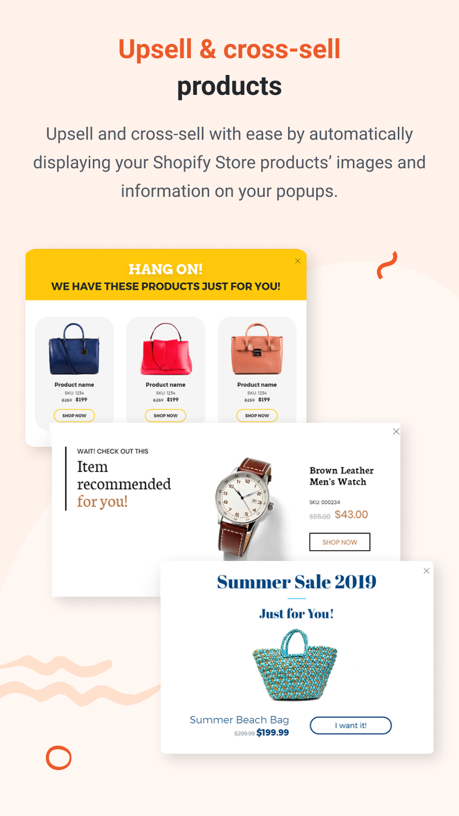 Upsell and cross-sell products.