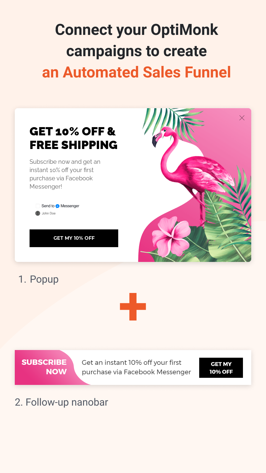 Sync your popups & create an Automated Sales Funnel.