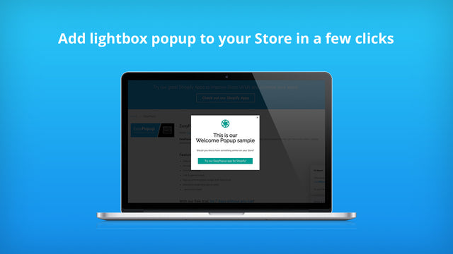 Add lightbox popup to your Store in a few clicks