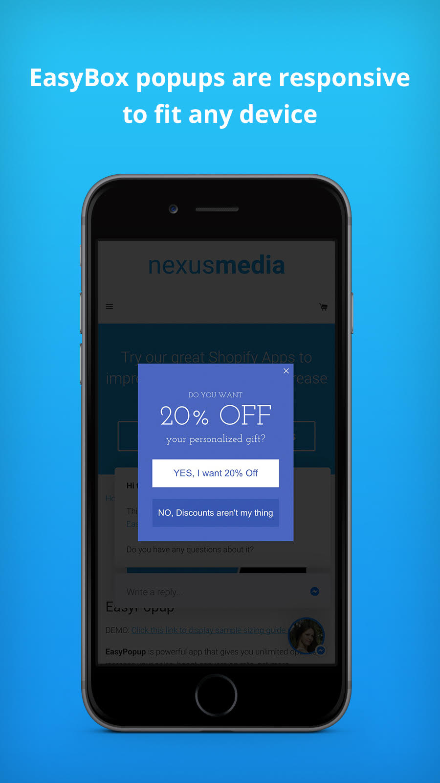 EasyBox popups are responsive to fit any device