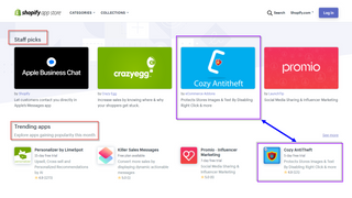 Staff picks by shopify, Right click defender best sellers, Geoip