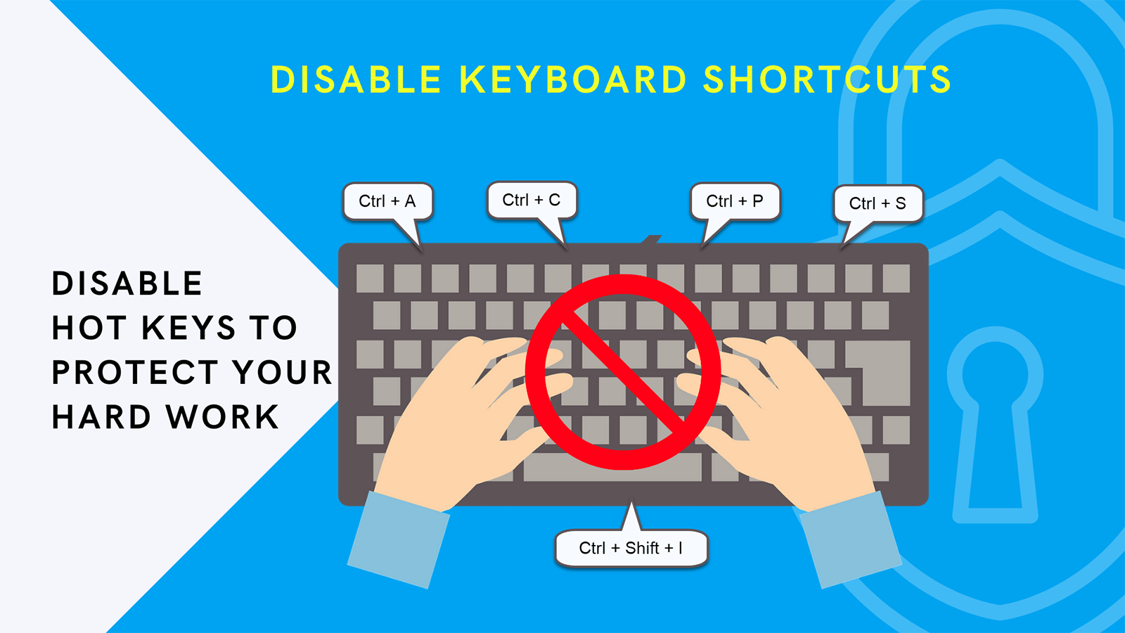 Disable right click. protect store and secure competition