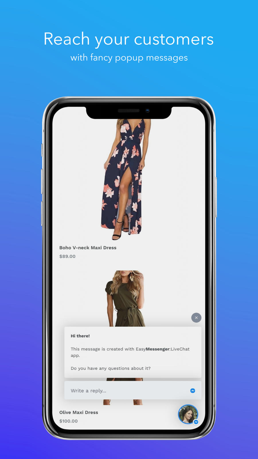 Reach your customers with fancy popup messages