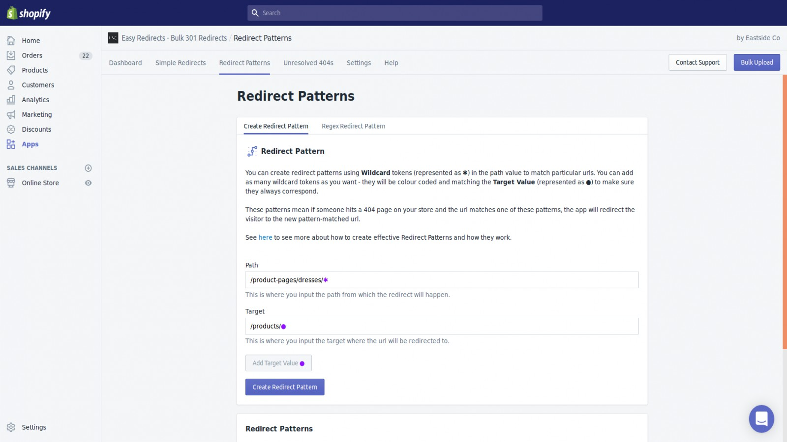 Redirect patterns let you automate redirects on an ongoing basis