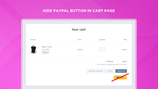 Hide PayPal Button In Shopping Cart on Shopify