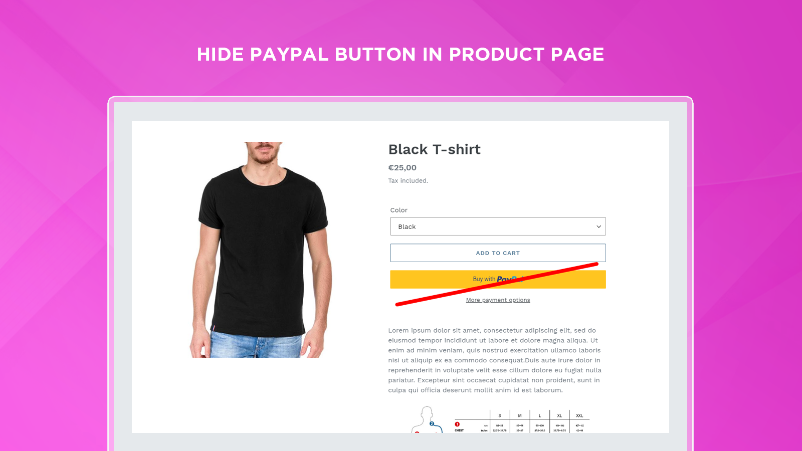 Hide PayPal Button In product page on Shopify