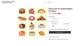 subscription with discount