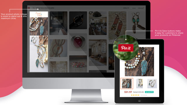 Shopify product images transformed into Pinterest collage