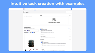 Intuitive task creation with examples