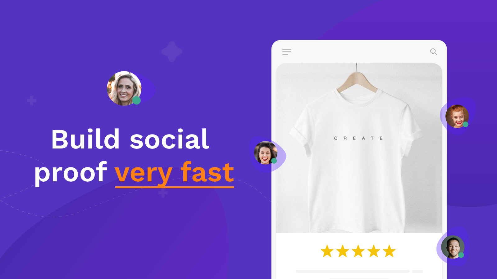 Product reviews on mobile and dashboard