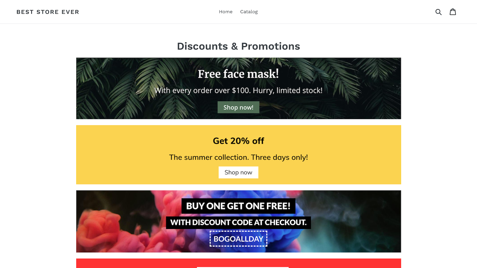 Easy Discounts & Promotions in an online store