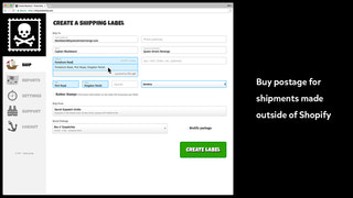 Buy USPS® postage for shipments made outside Shopify