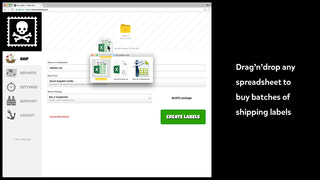 Buy batches of shipping labels from any spreadsheet