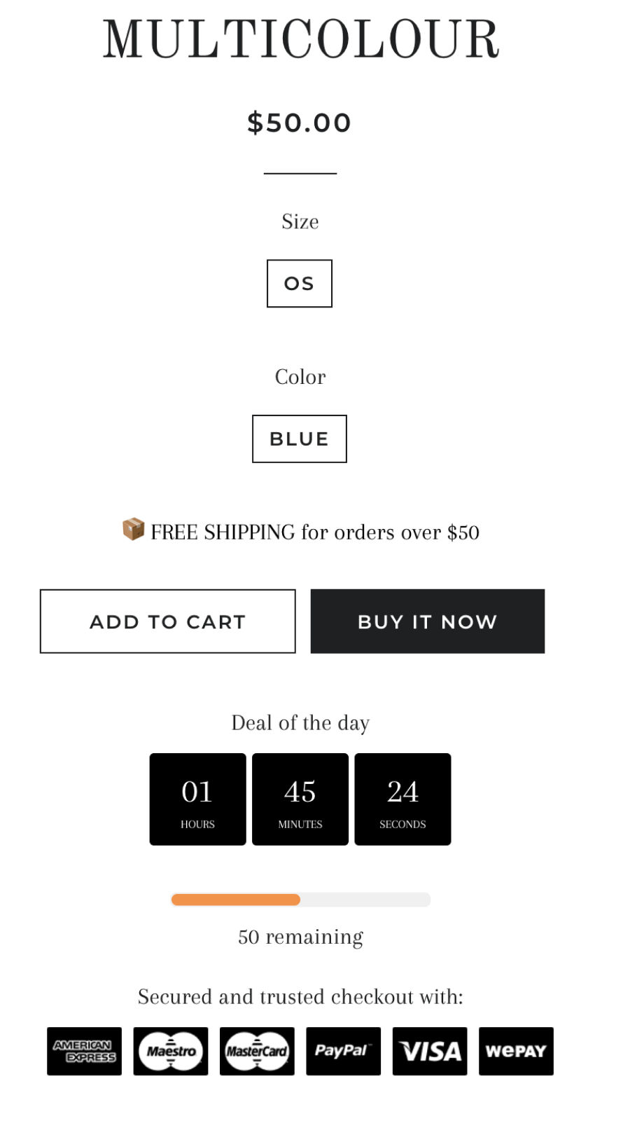 Product page promotions on the storefront