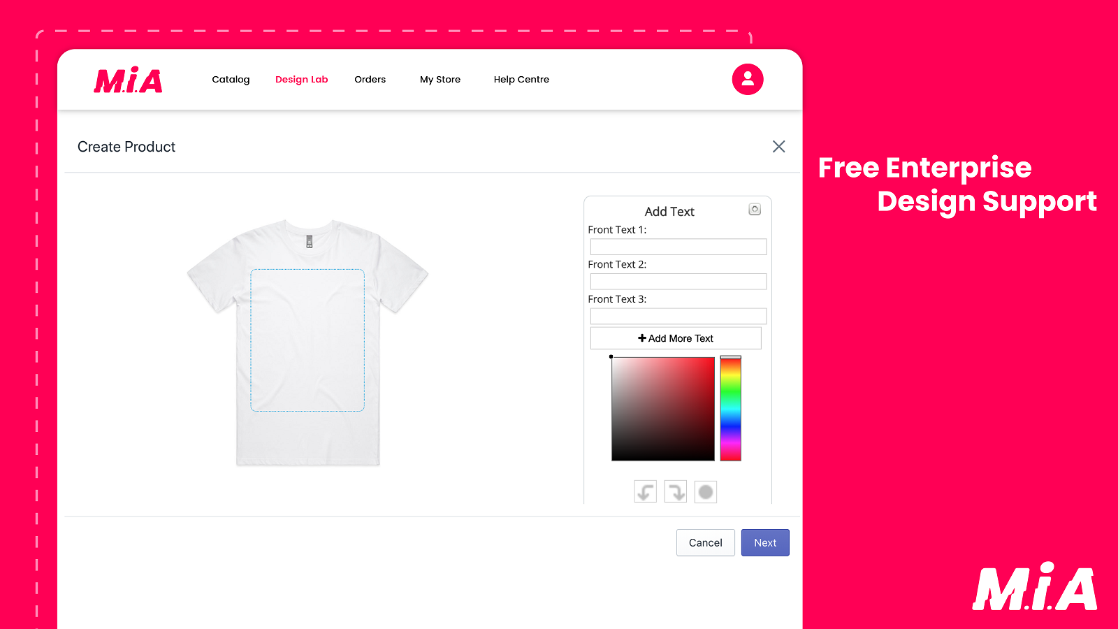 Design your personalized T-Shirts, Mugs etc.