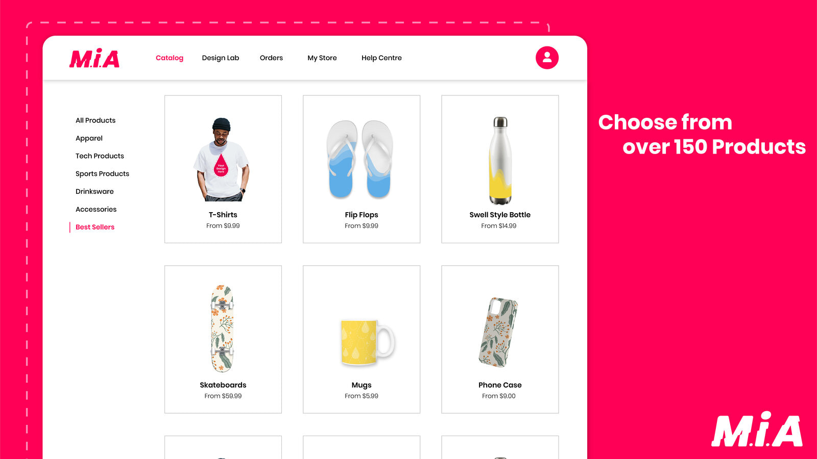 Choose from 150+ Print on demand products - UK USA Australia