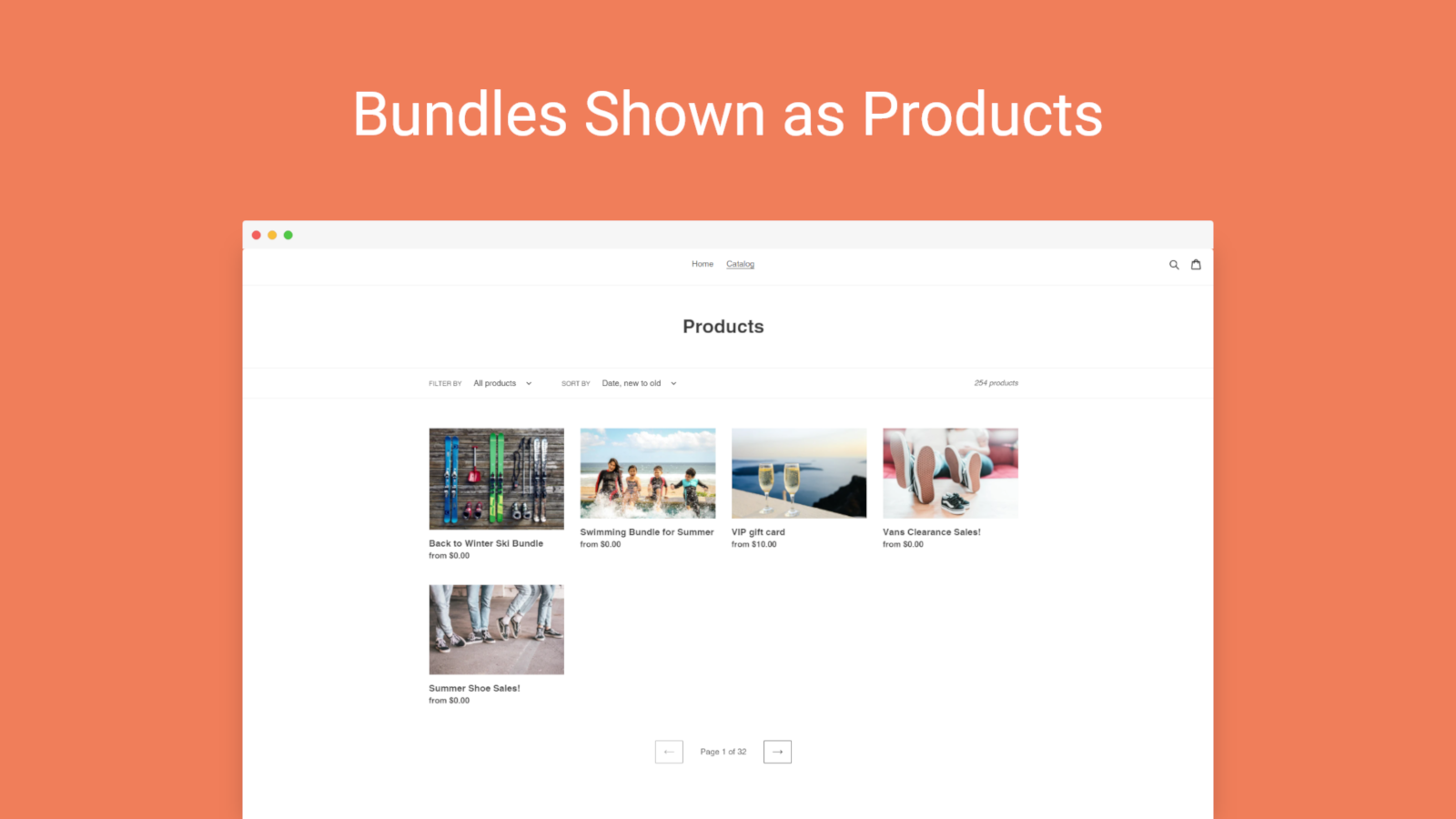 Assign Bundles to Collections or Home Page, Like Any Products
