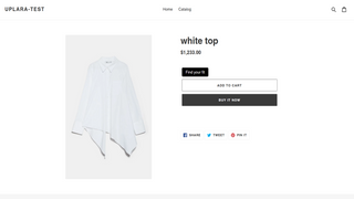 Sizing application integration on the buying page