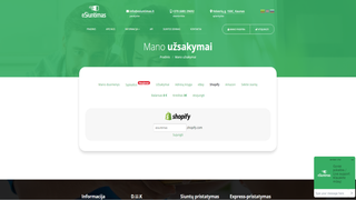 Interface with shopify account