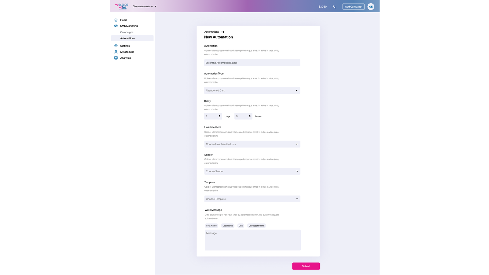 Create abandoned cart automations to send a reminder to customer