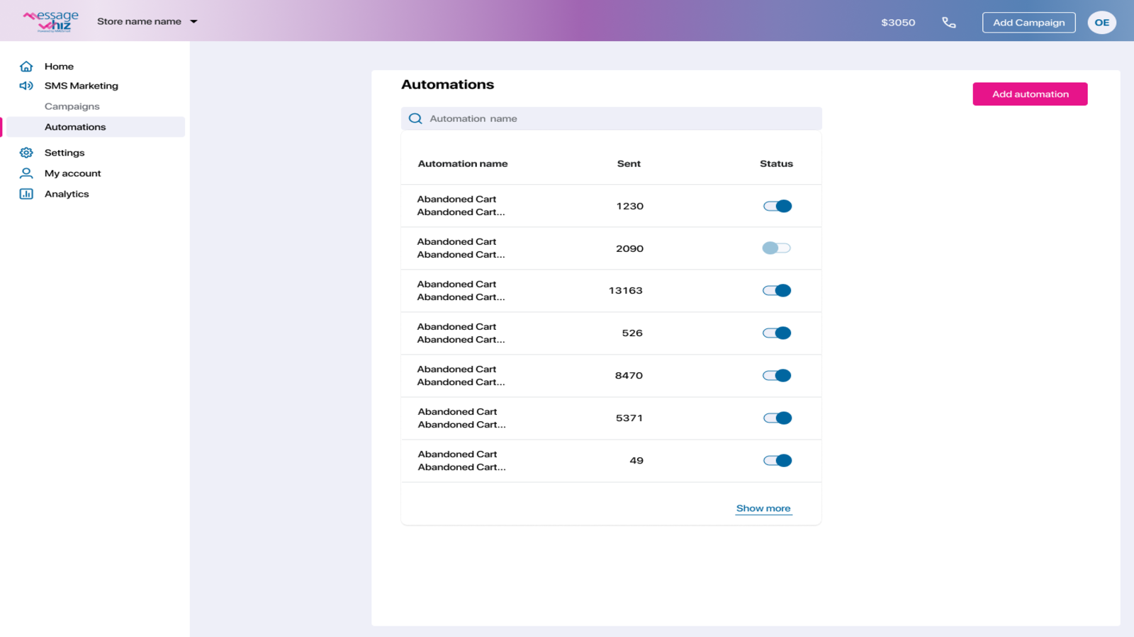 Manage your automations in one click