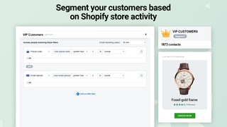 Advanced segments to group loyal customers and high spenders