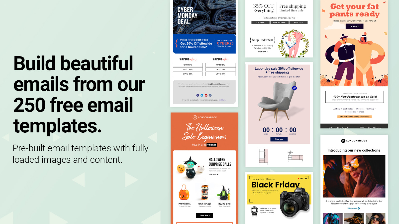 250 Ready to use free email templates. BFCM templates