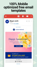 Mobile friendly free email templates to send email newsletters