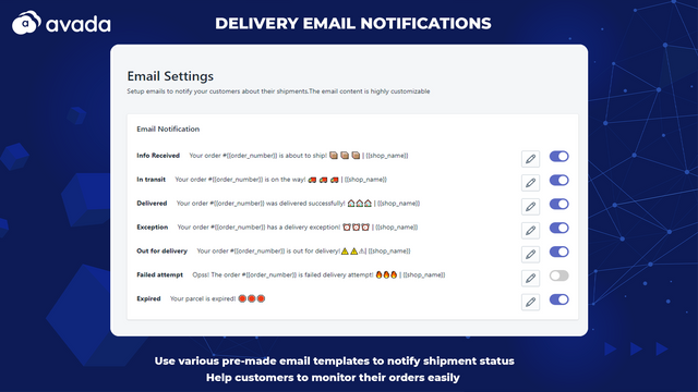 Delivery notification