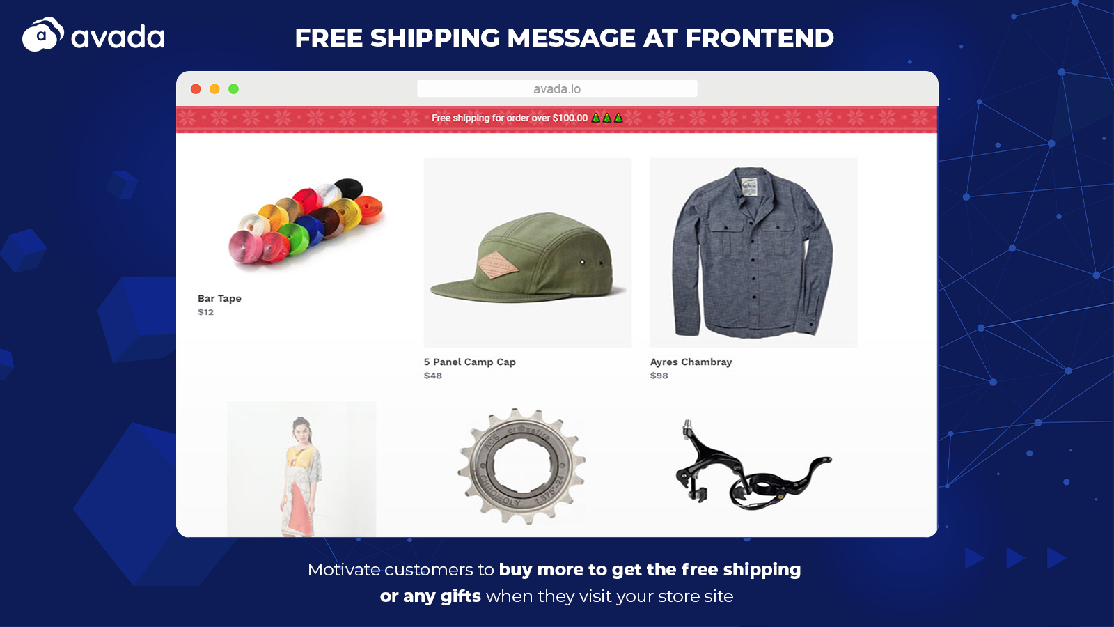 Free Shipping Bar at Frontend