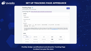 Tracking page