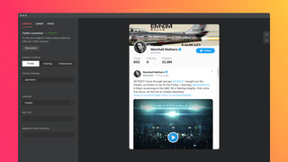 Display your Twitter profile with original design