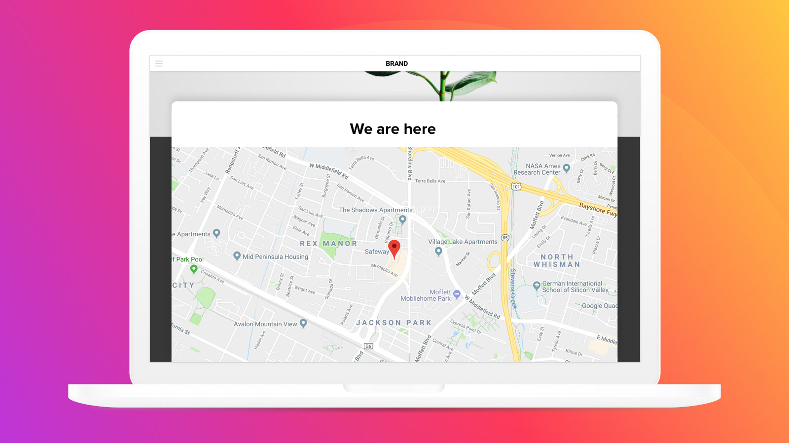 Clean Store Locator design will blend with any website concept
