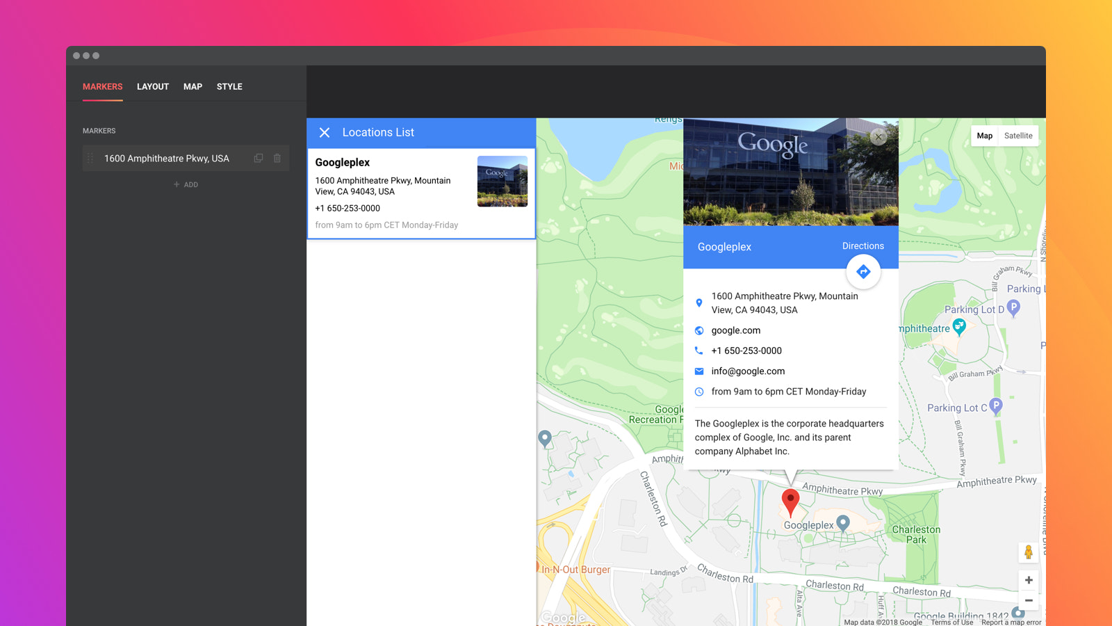 Store Locator to add detailed contact info to locations