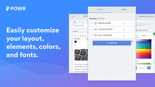 Customize your tabs layout, colors and fonts.