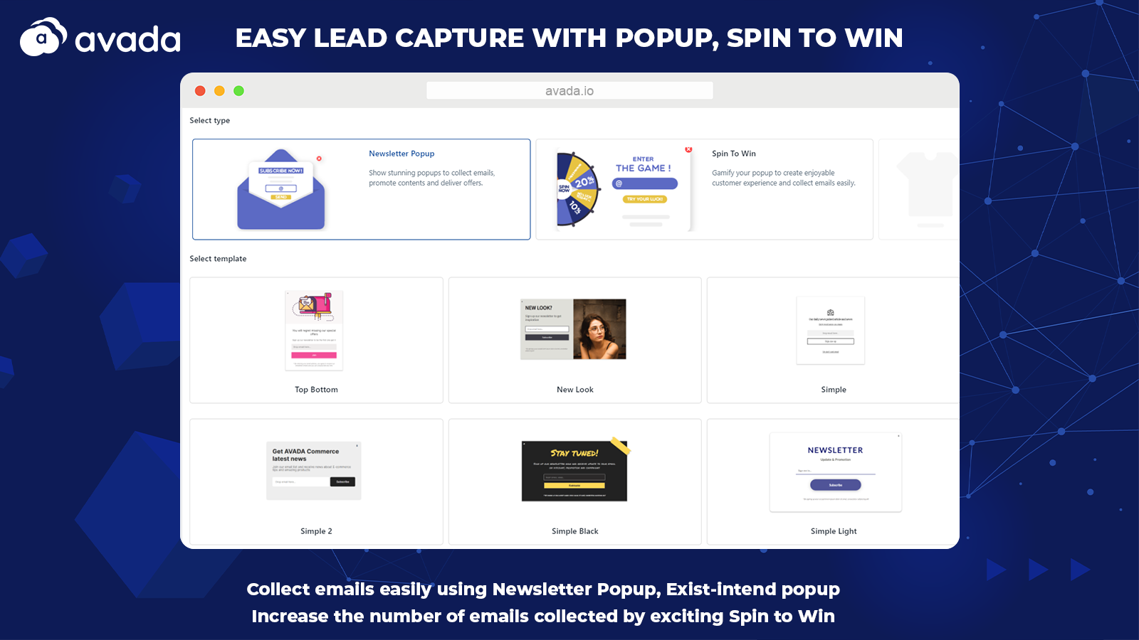Collect leads with Popup, Spin To Win